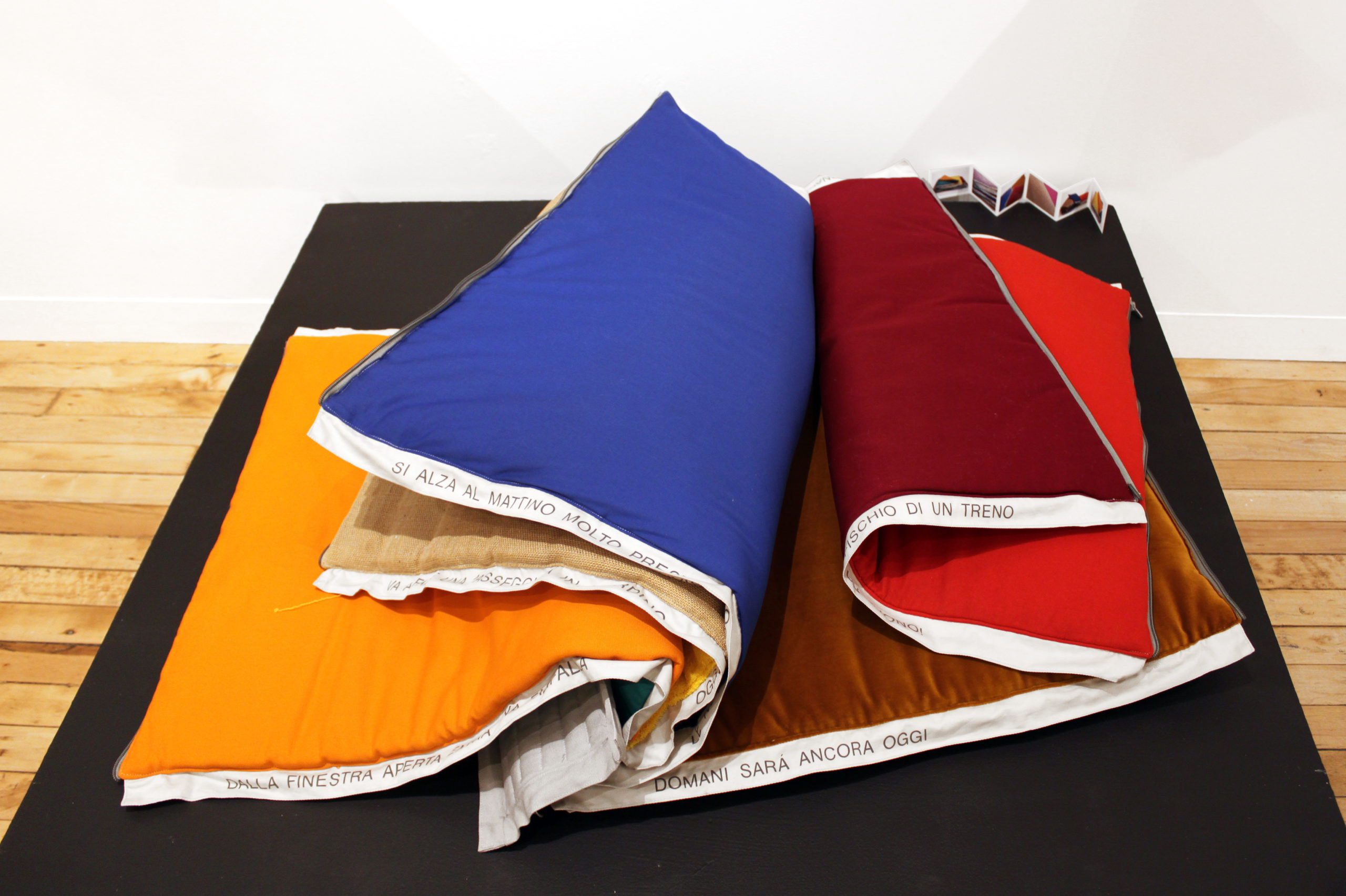 book made of fabric