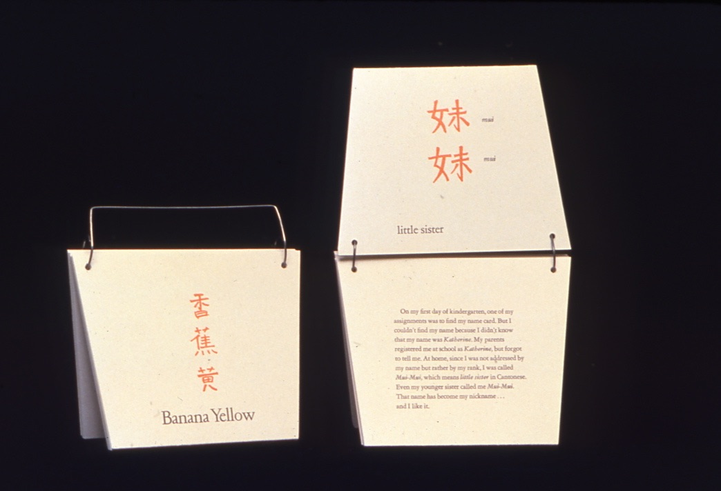 a book in the shape of a Chinese food take out container