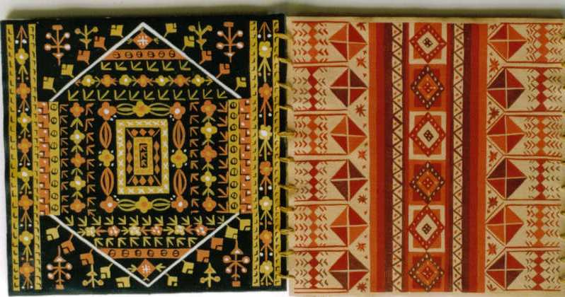 intricate geometric patterns in yellow black and red