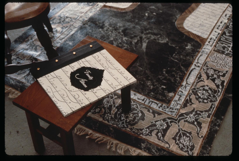 album on side table