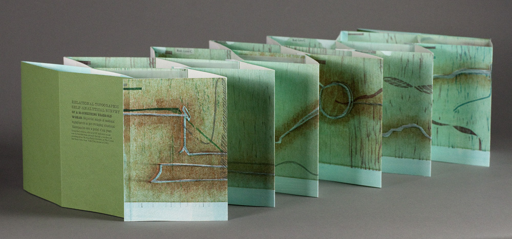turquoise accordion book extended