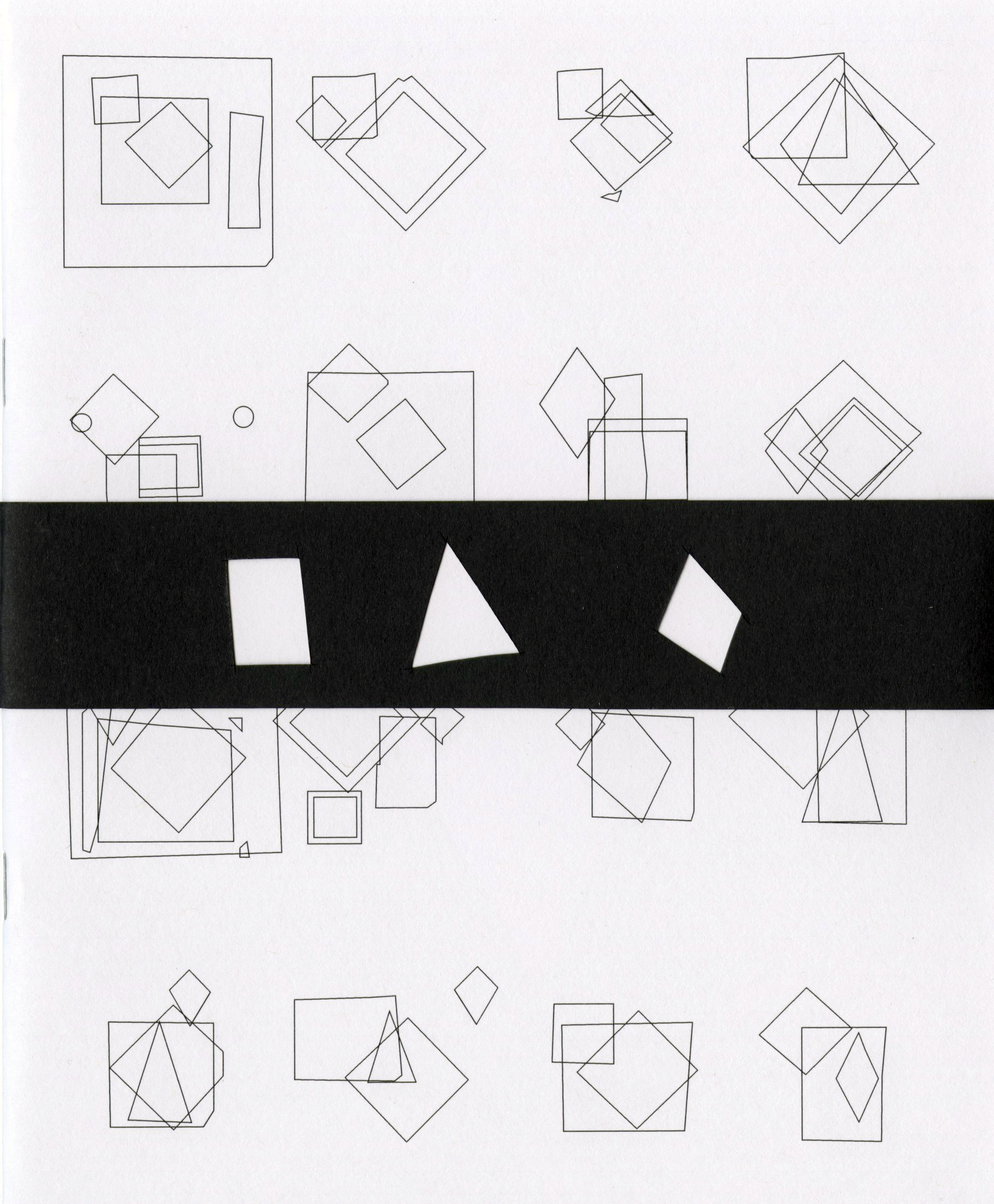 white book cover with black line drawings of geometric shapes