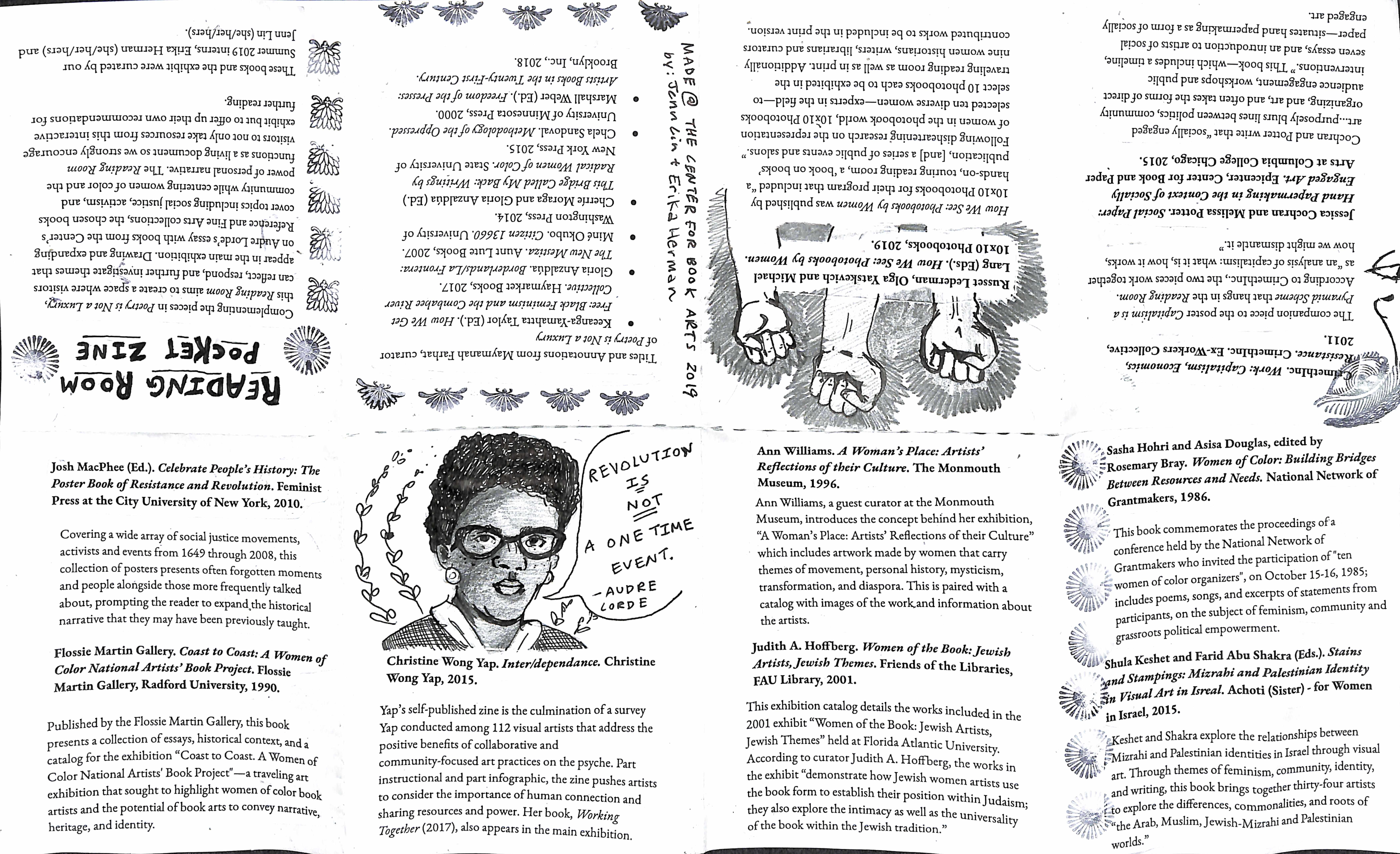 printable zine bibliography for the exhibition