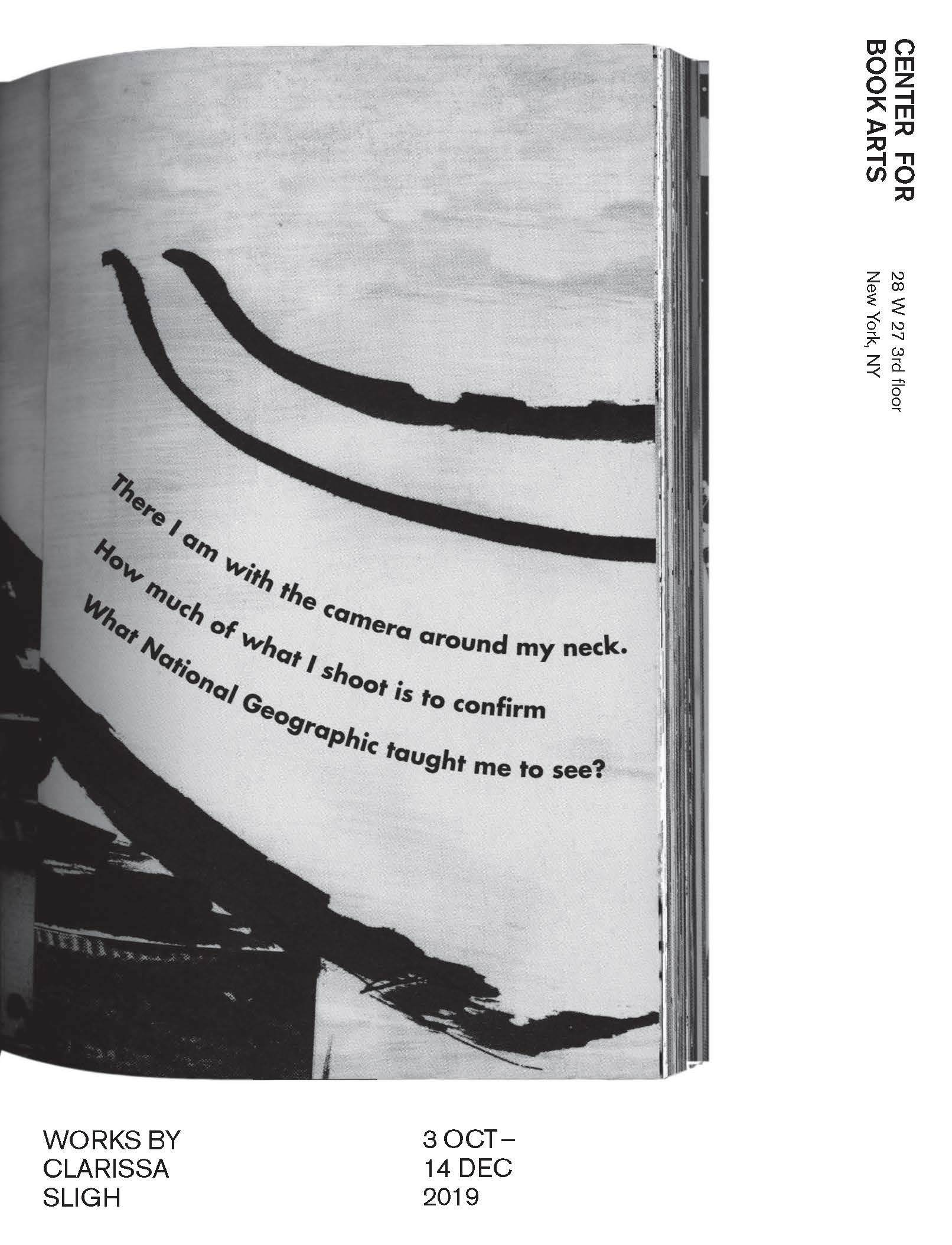 Brochure cover with page from book