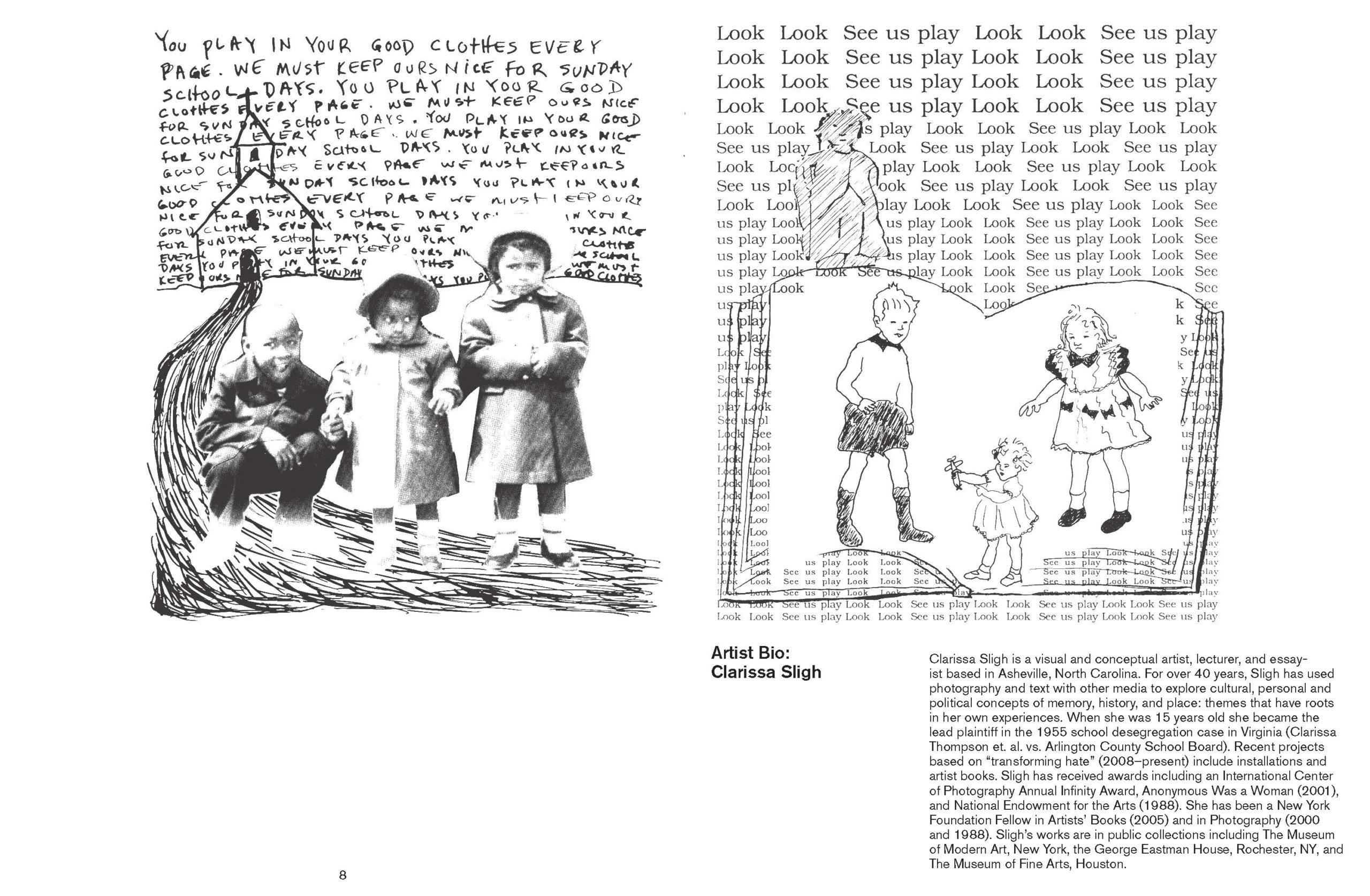 page 10 & 11 of Witnessing Through Artist's Books: Clarissa Sligh brochure