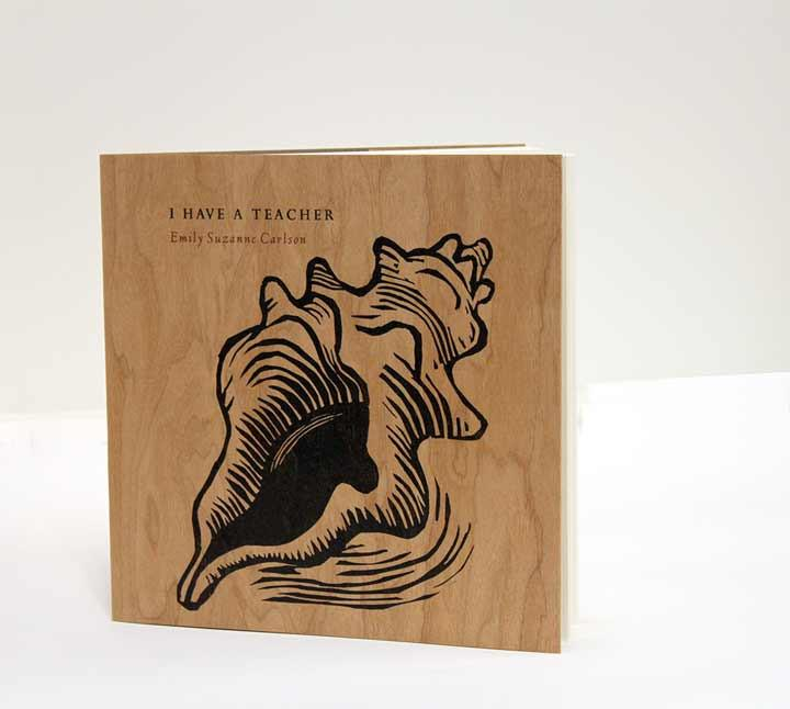 book with wood cover