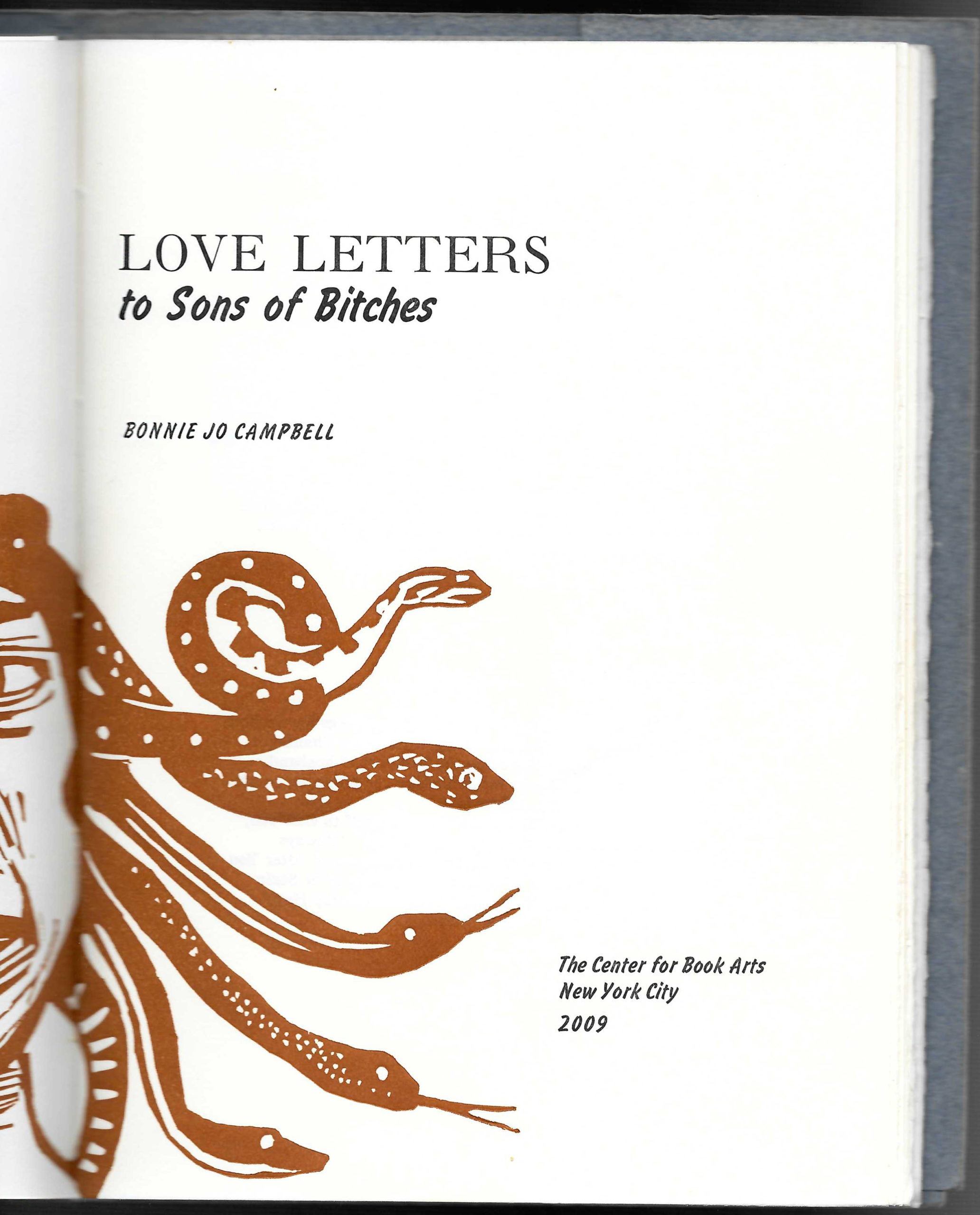 red Medusa head on title page of book