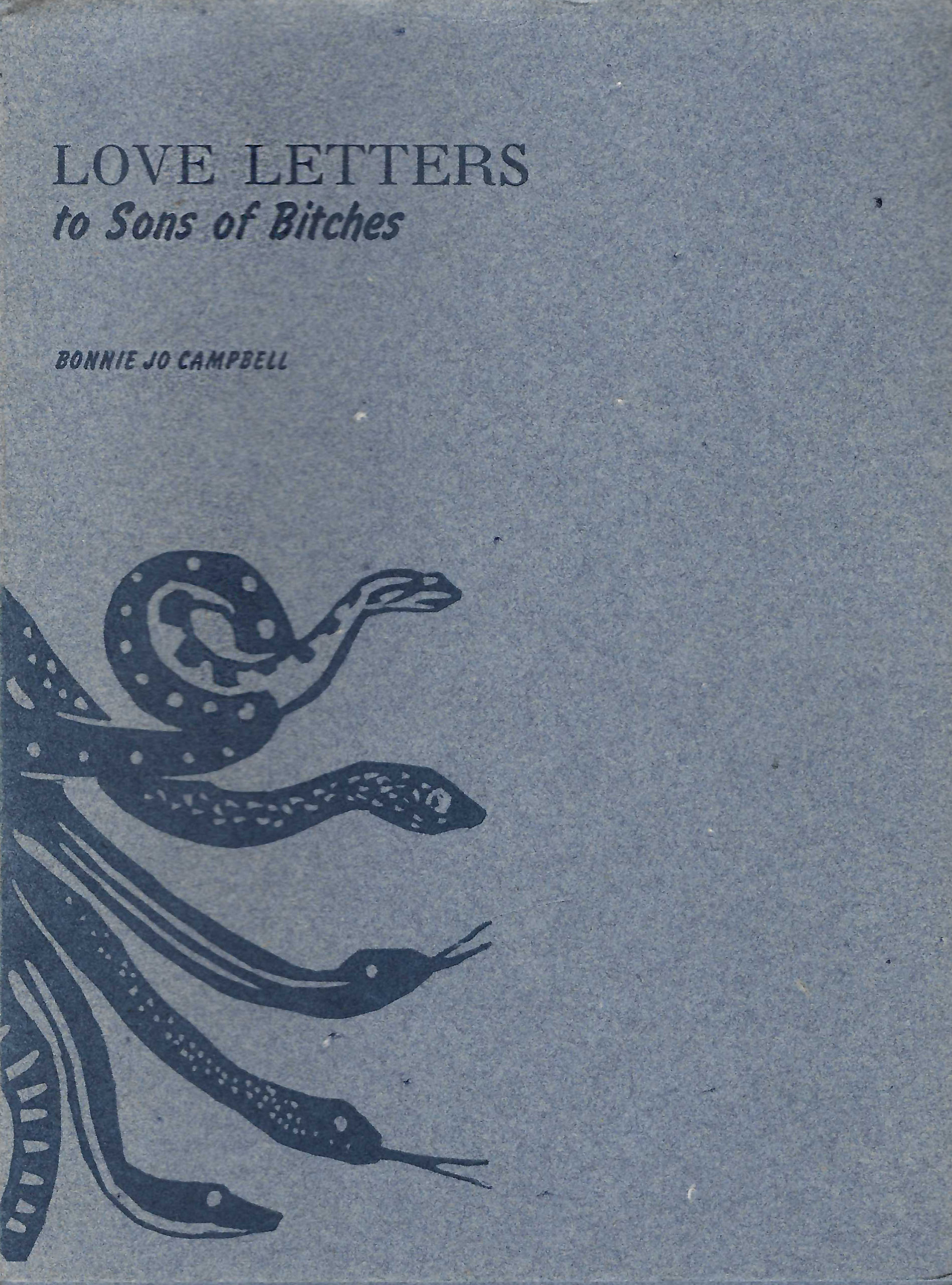 blue book cover with snakes