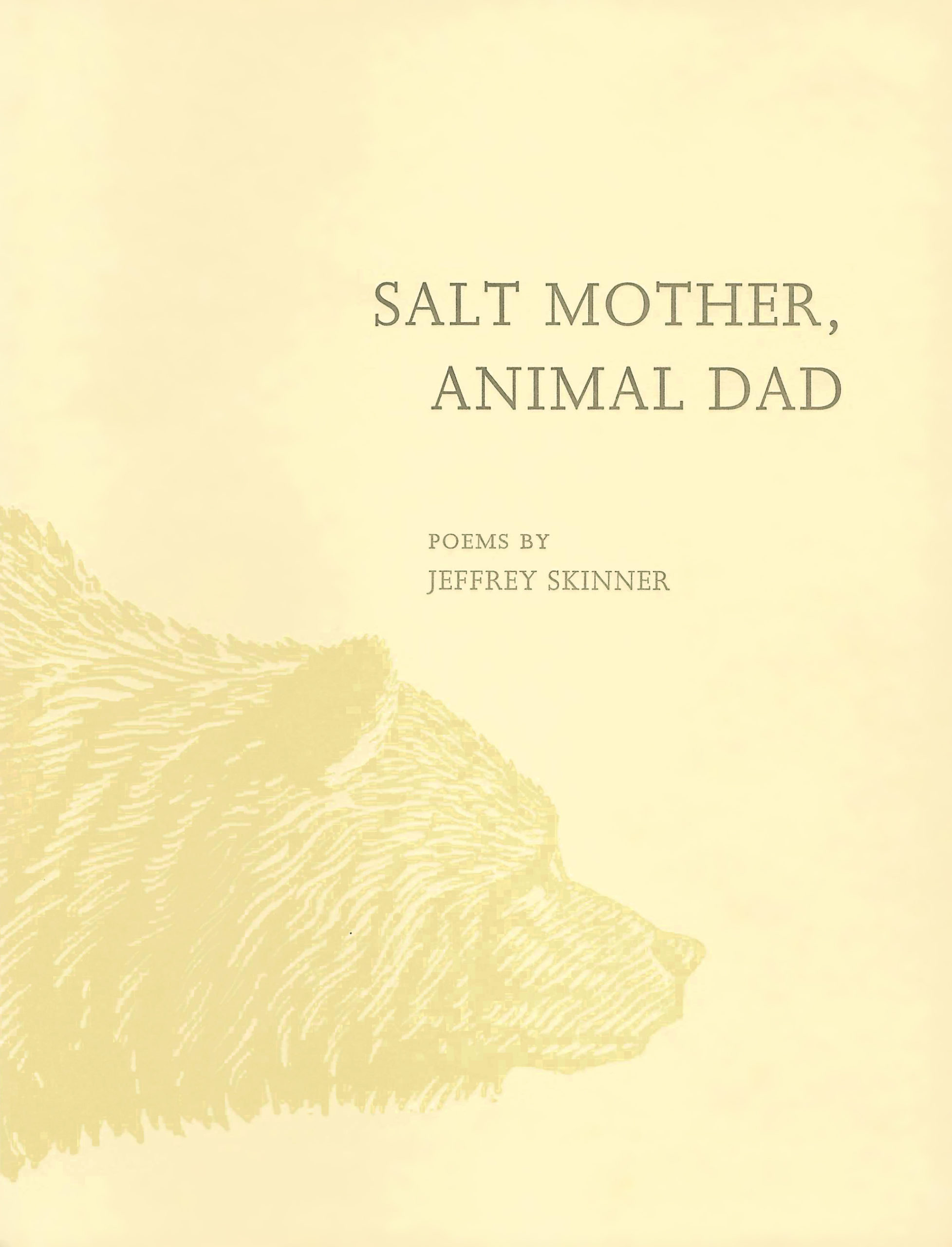 book cover with grizzly bear head