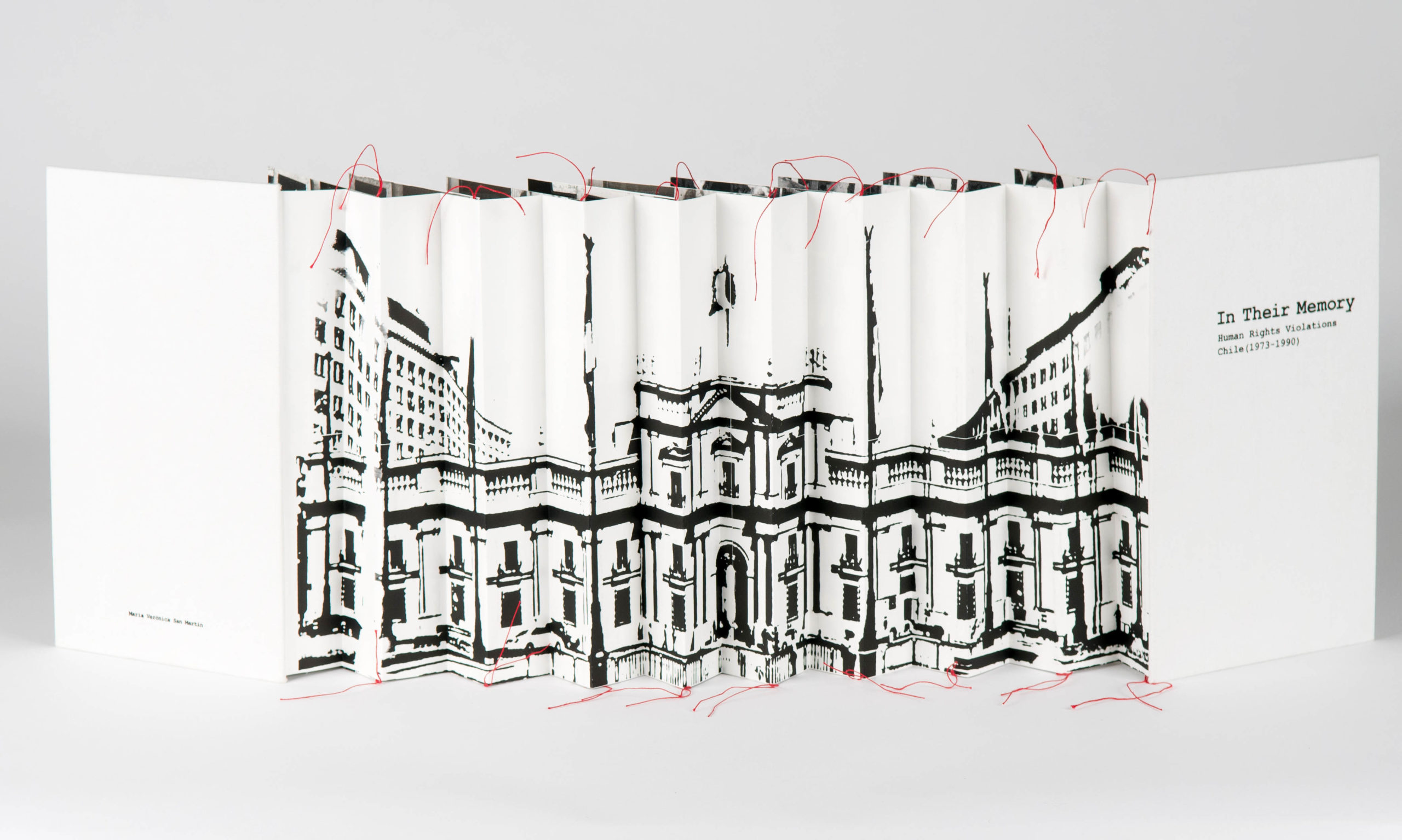 capitol of chile across a unfolded accordion spine