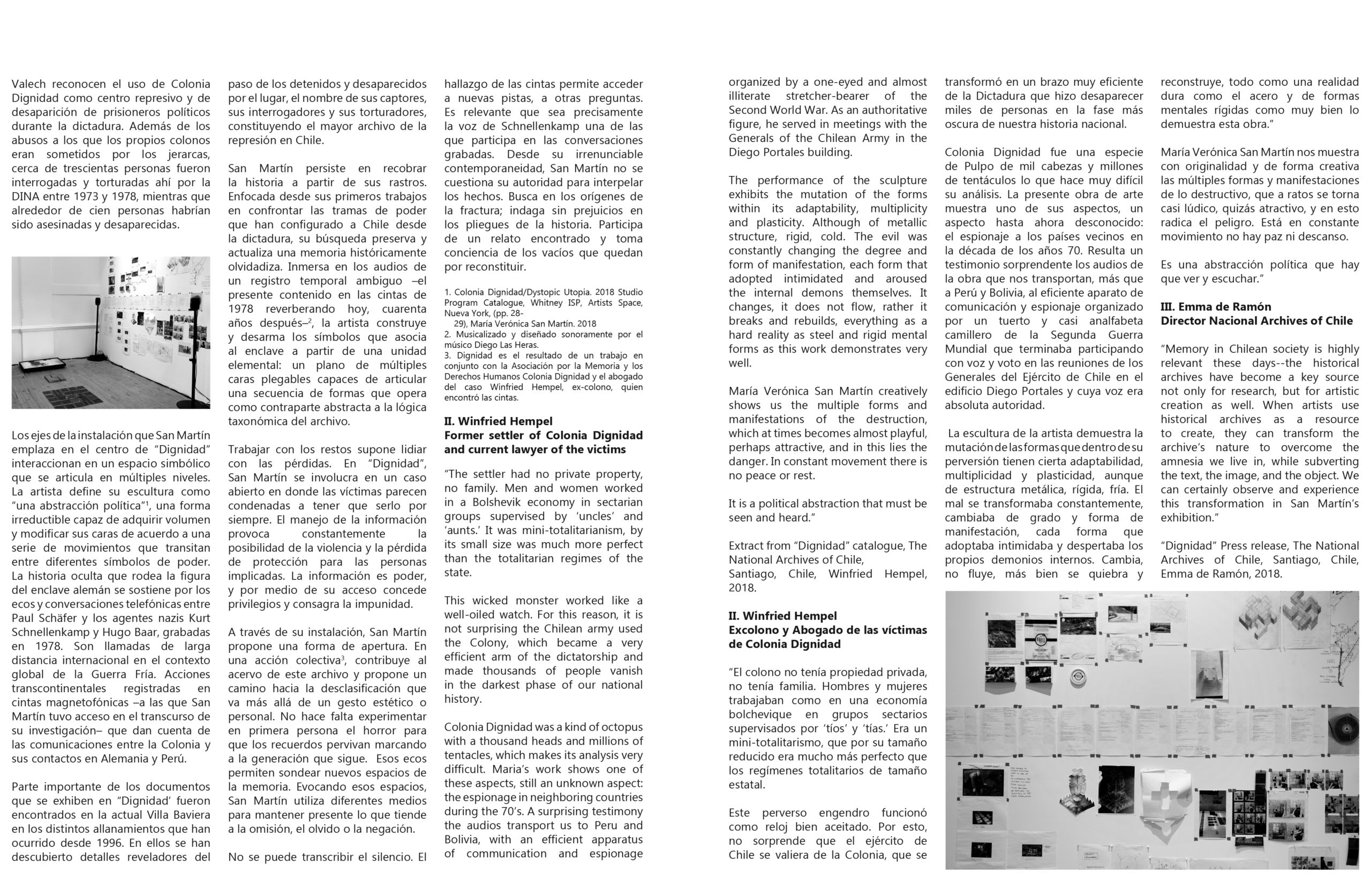 spread with interview with the artist