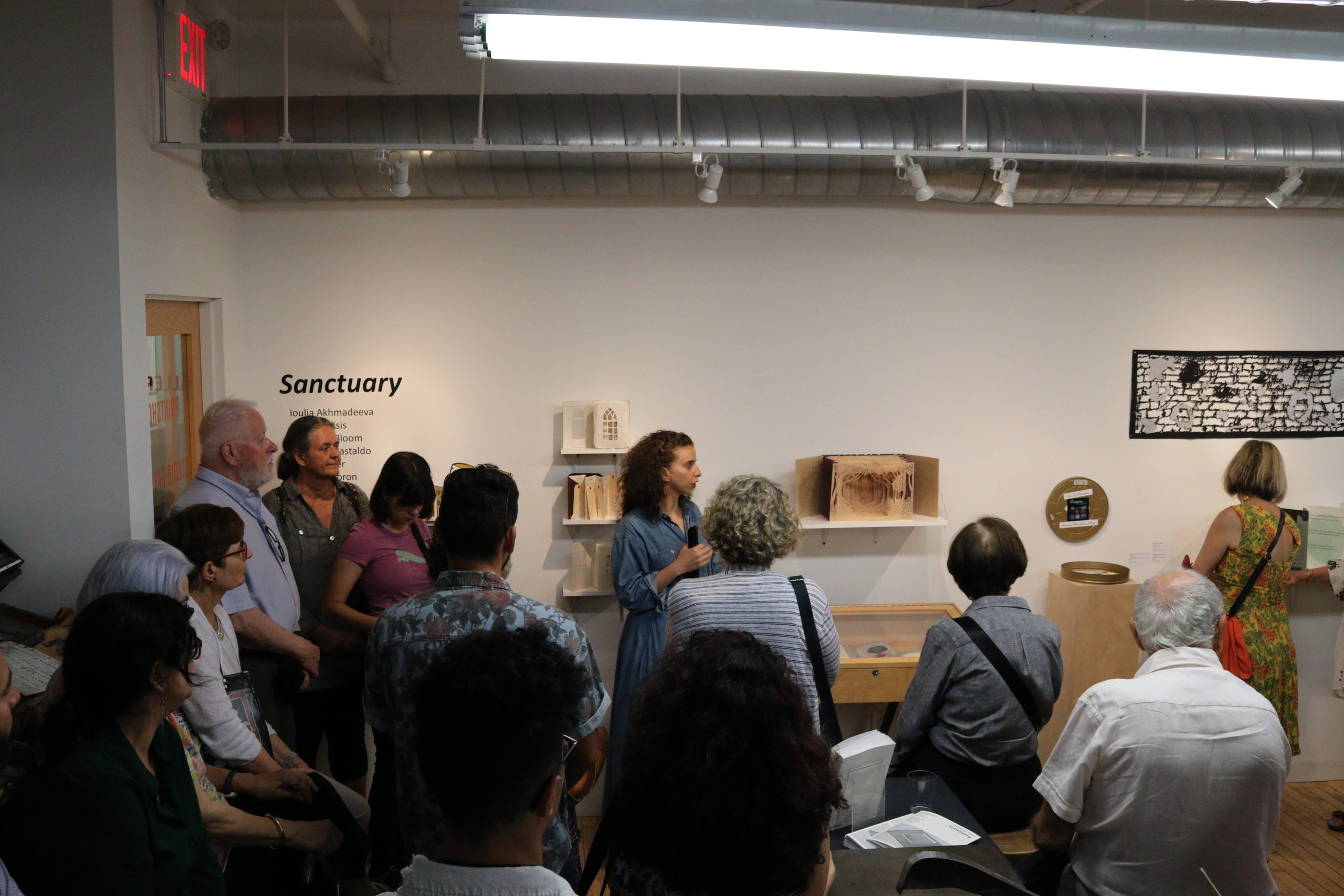 Jenna Hamed gives a tour of the exhibition Sanctuary