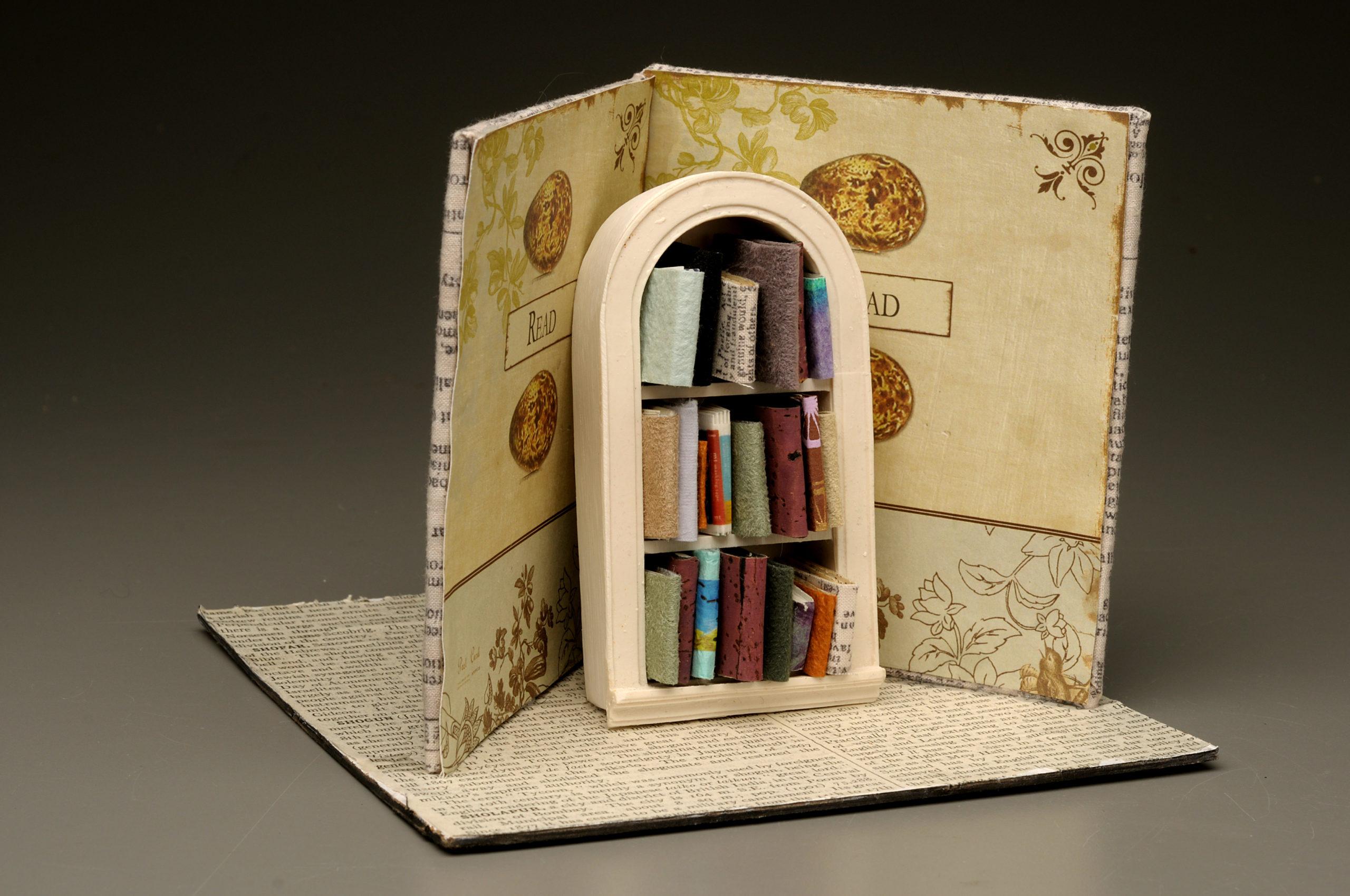 miniature book case