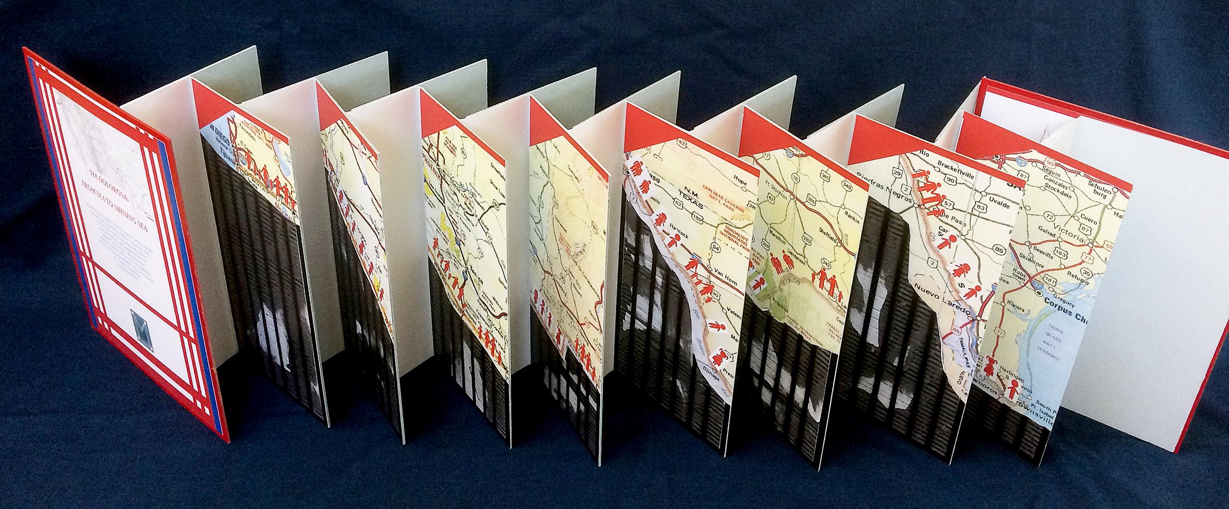Maps Via Dolorosa by Maria G. Pisano