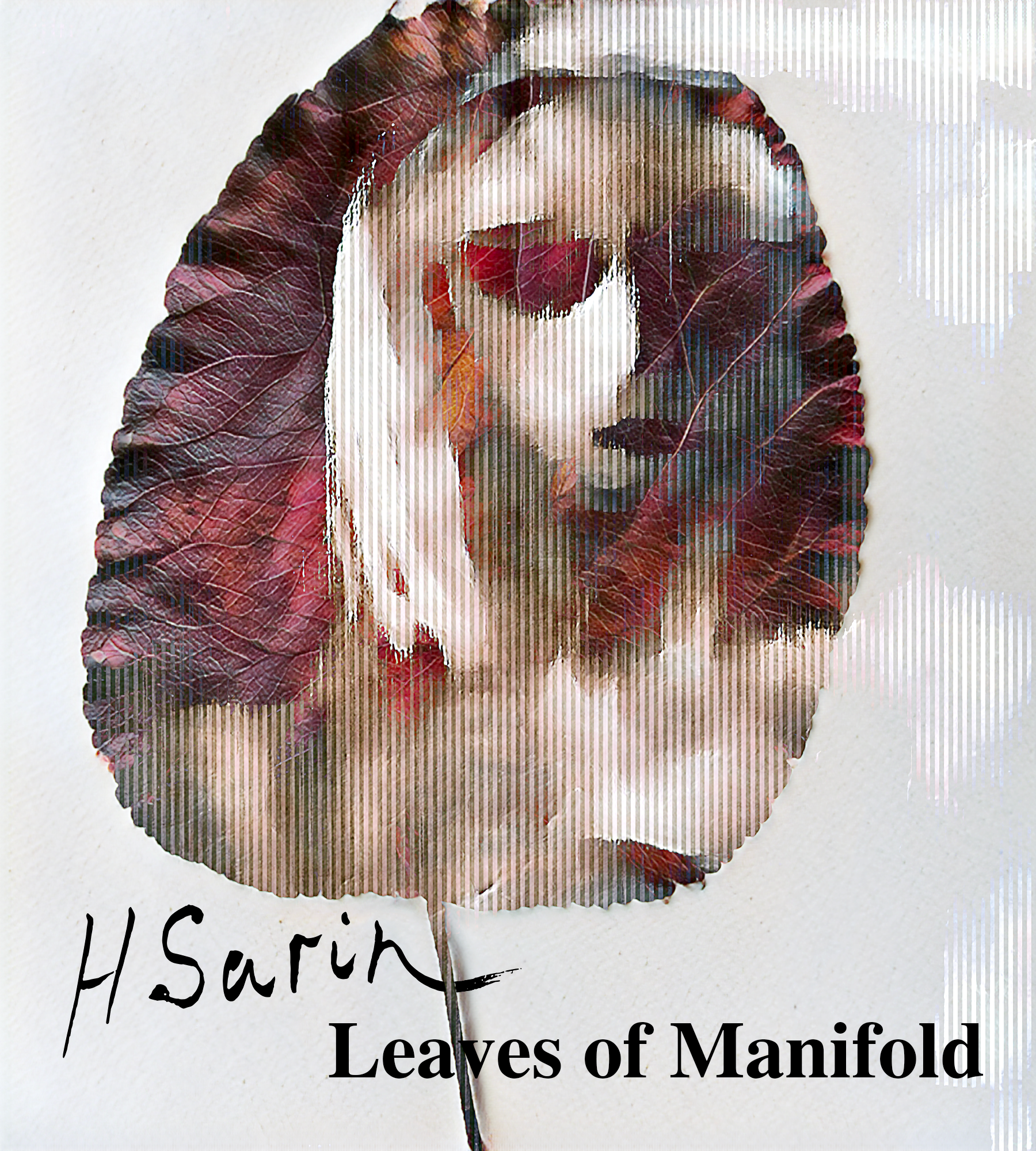 a ghostly image of a woman's face silhouetted by a leaf