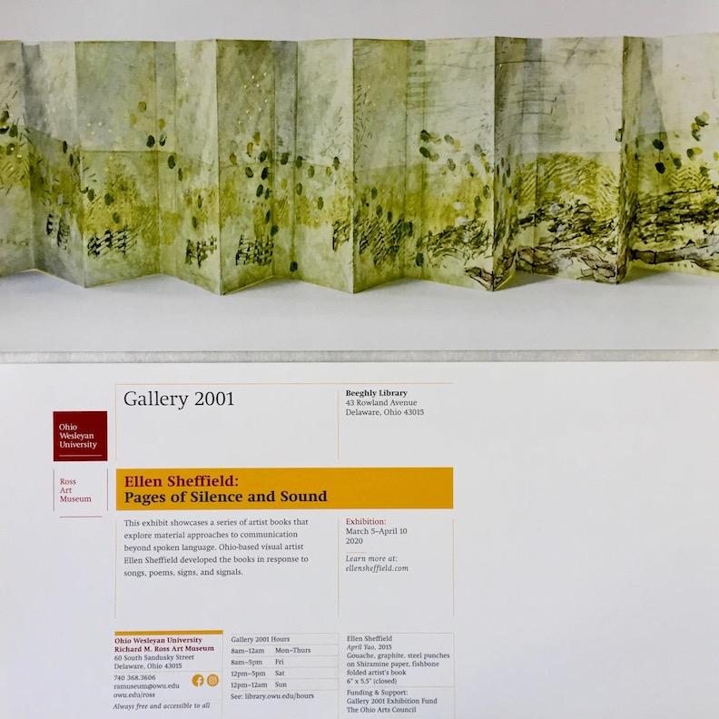 Postcard for Ellen Sheffield exhibition