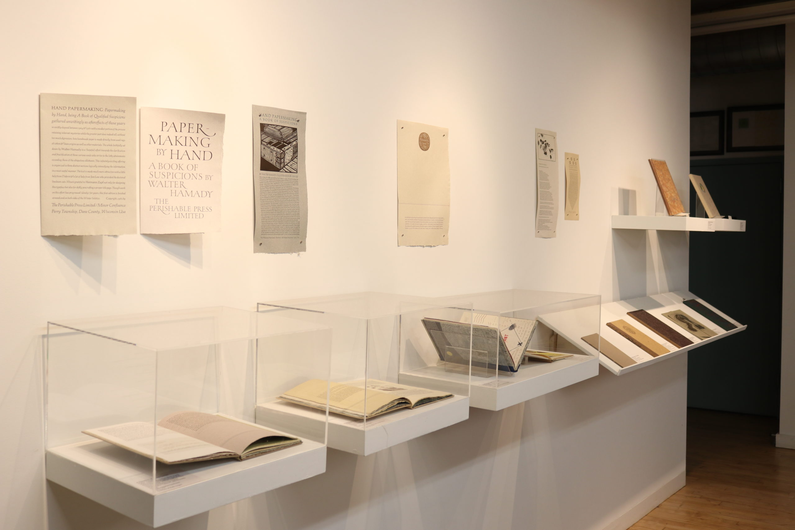 View of Hamady exhibition at CBA Bindery Gallery