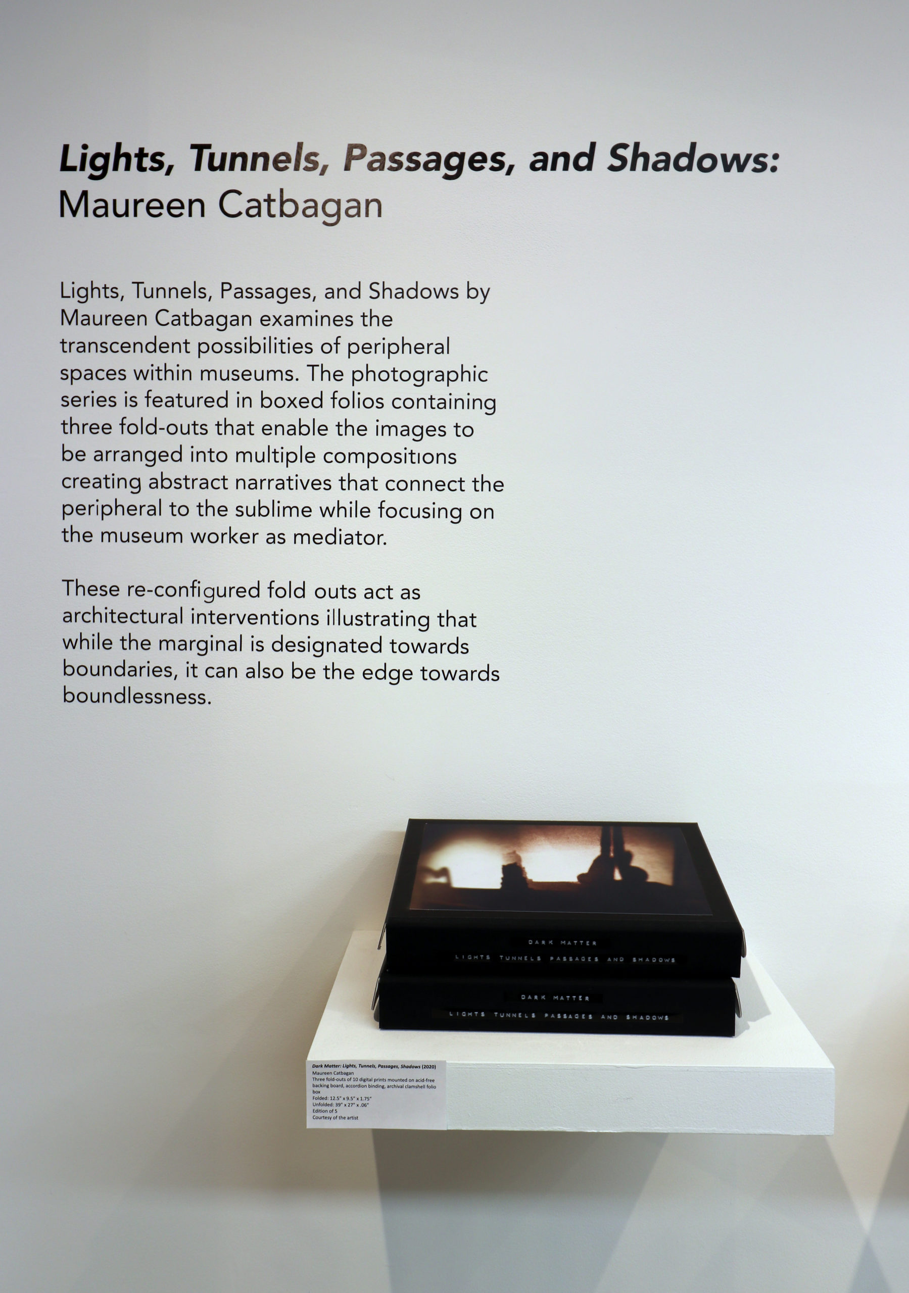 Close-up nstallation shot of exhibition