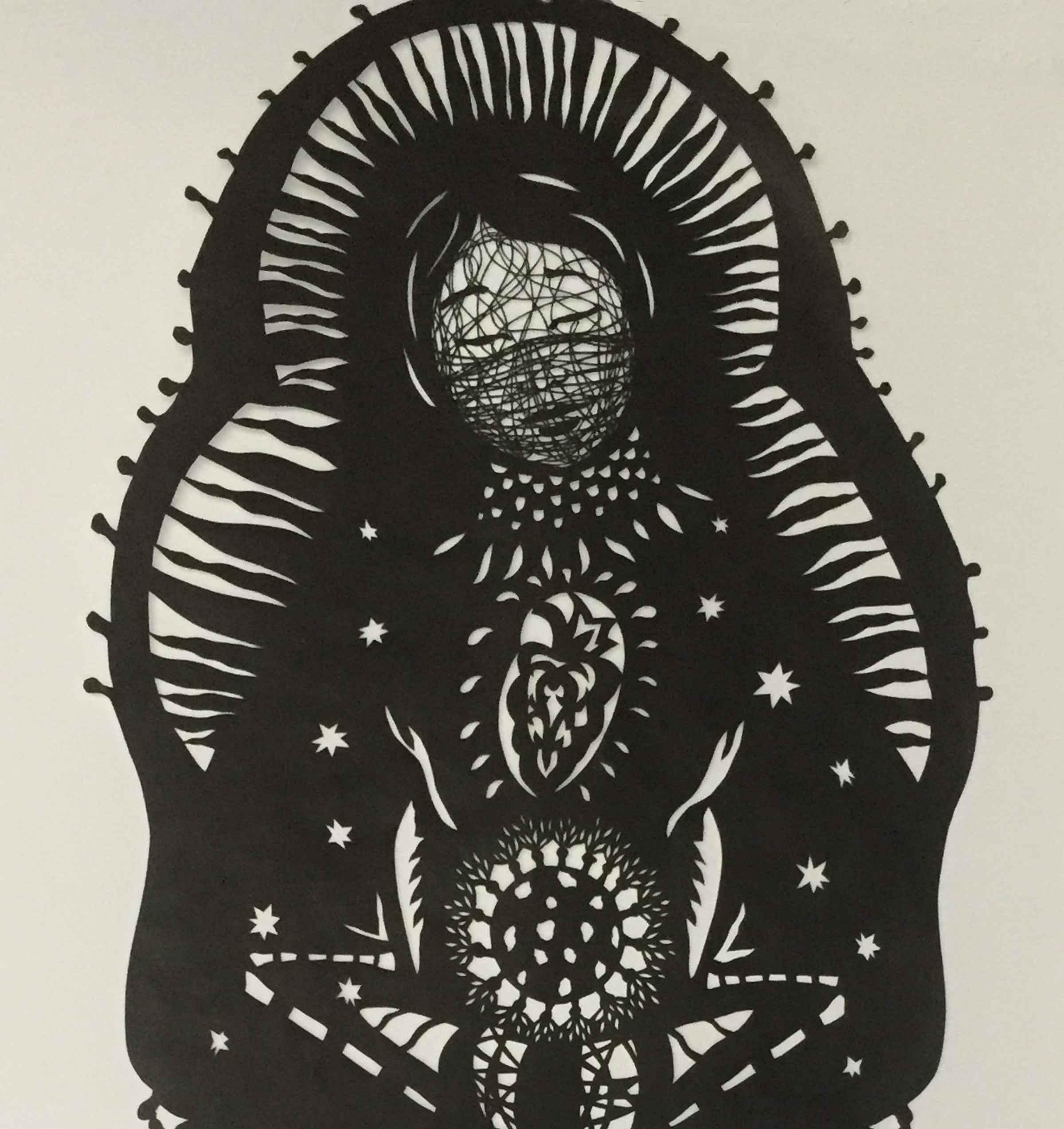 A papercut design by Beatrice Coron.