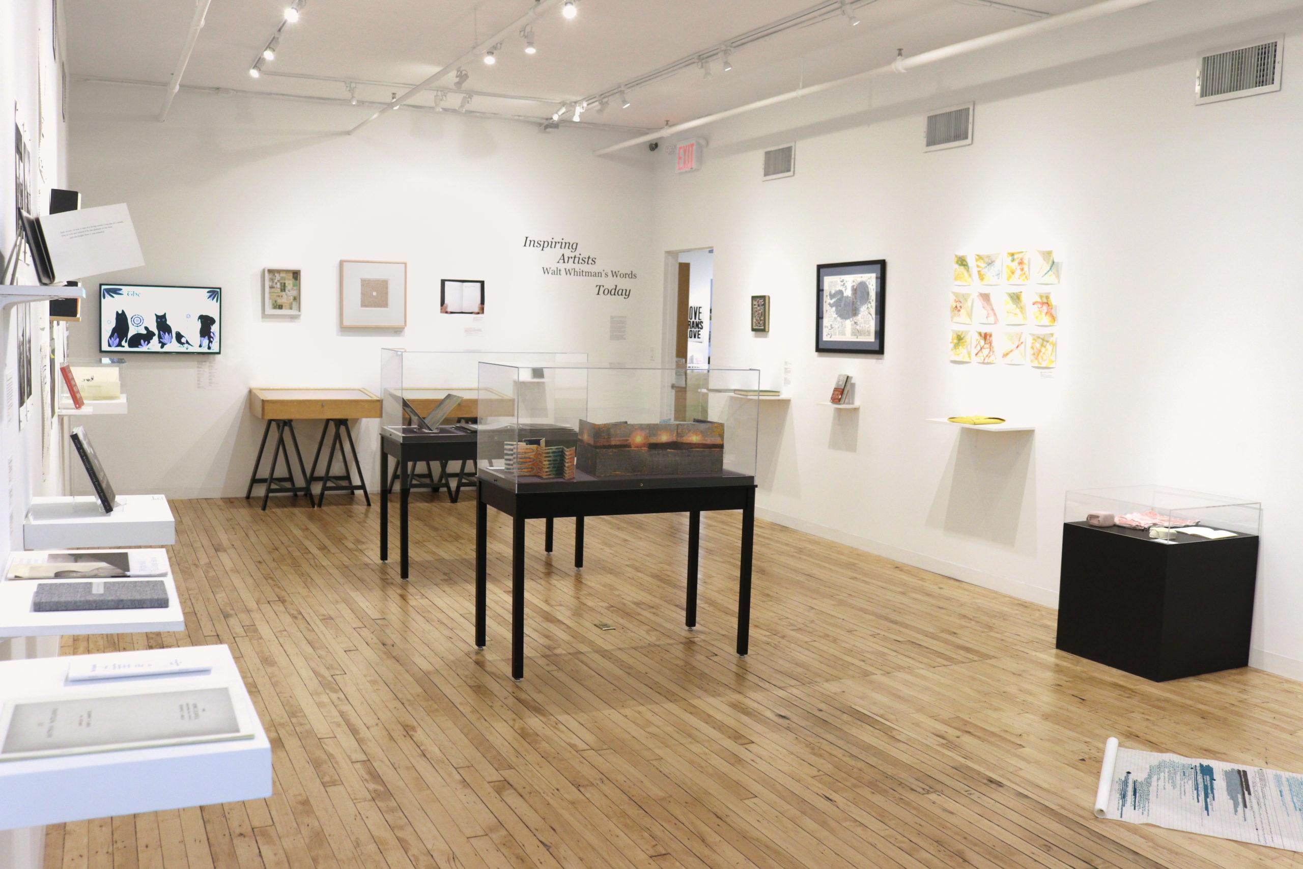 View of gallery from bindery door.