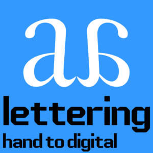 Two a's are back to back on a blue background. The title of the class is typed along the bottom in an early computer esque typeface.