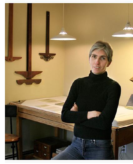 woman with short hair and fair skin