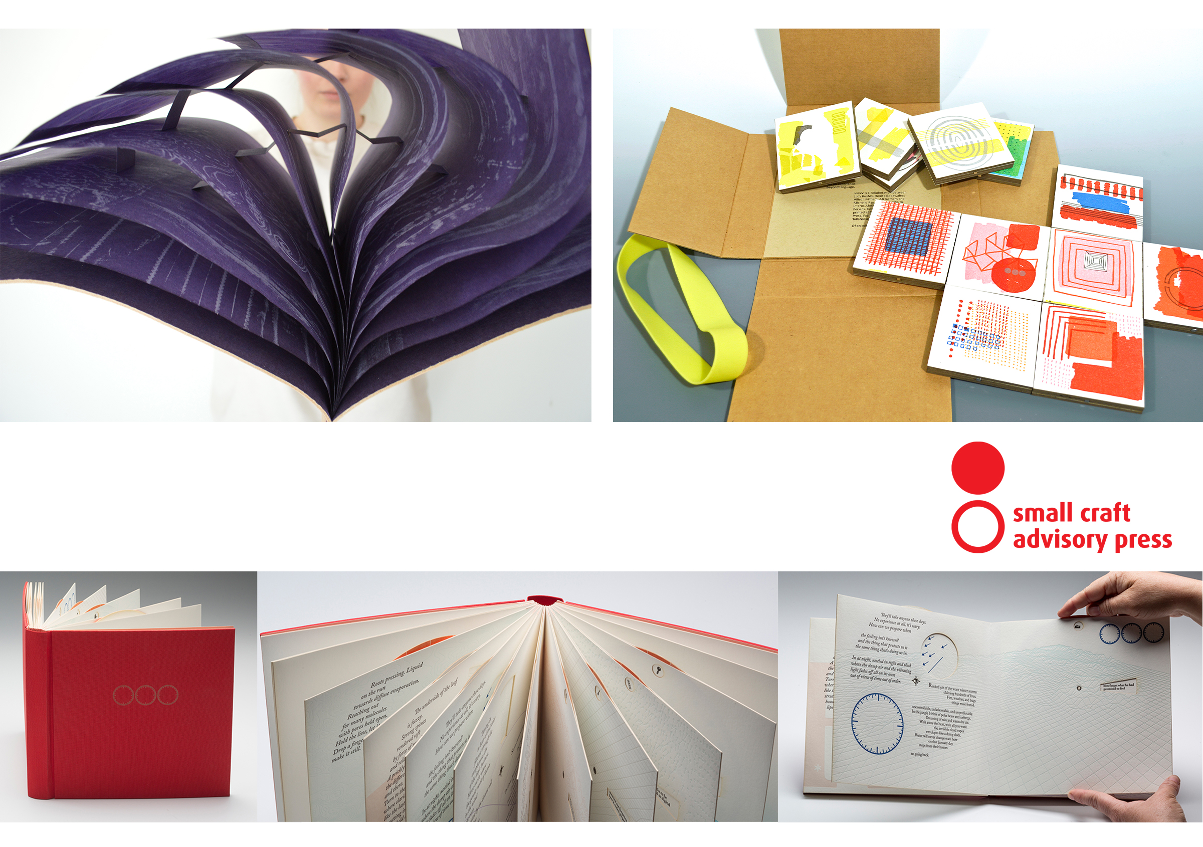 Multiple images of artists books