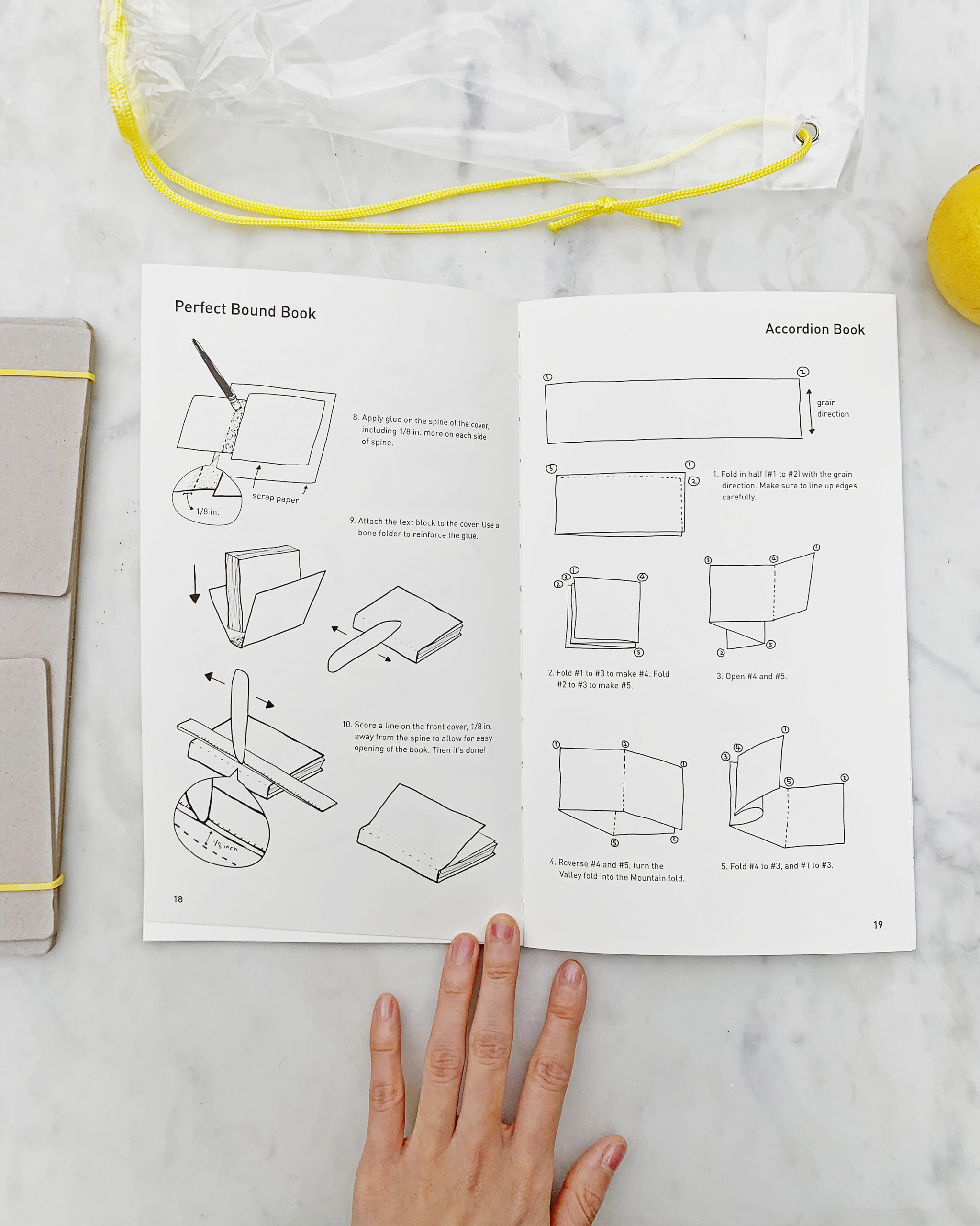 book with illustrations of how to fold paper