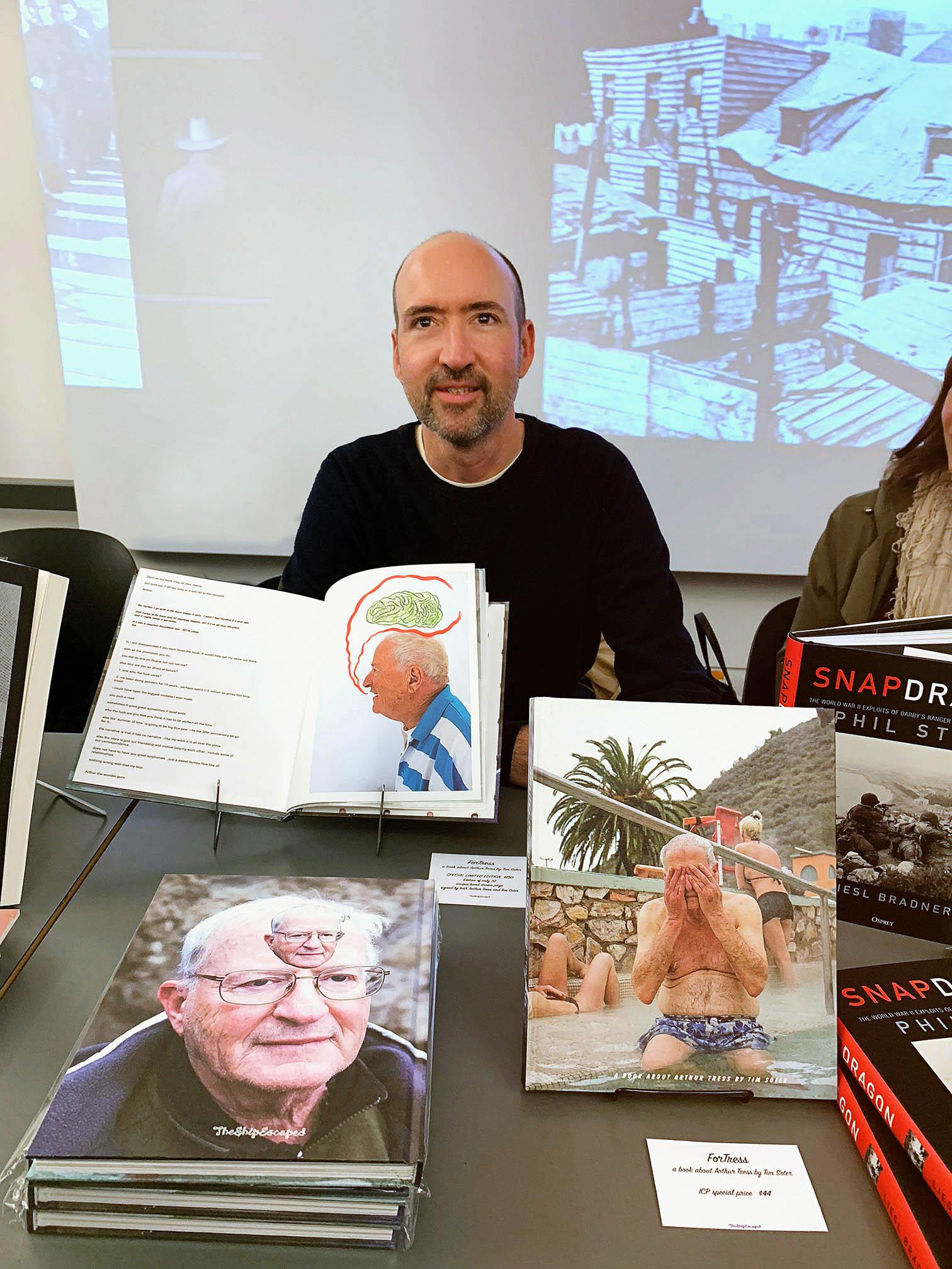 Tim Soter at International Center of Photography Book Fair.
