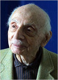 Photo of Stanley Kunitz for bio page