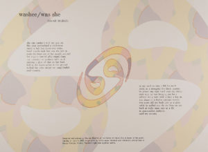 image of broadside with stylized Arabic/Dari lettering in the background, and the poem imposed in the foreground.
