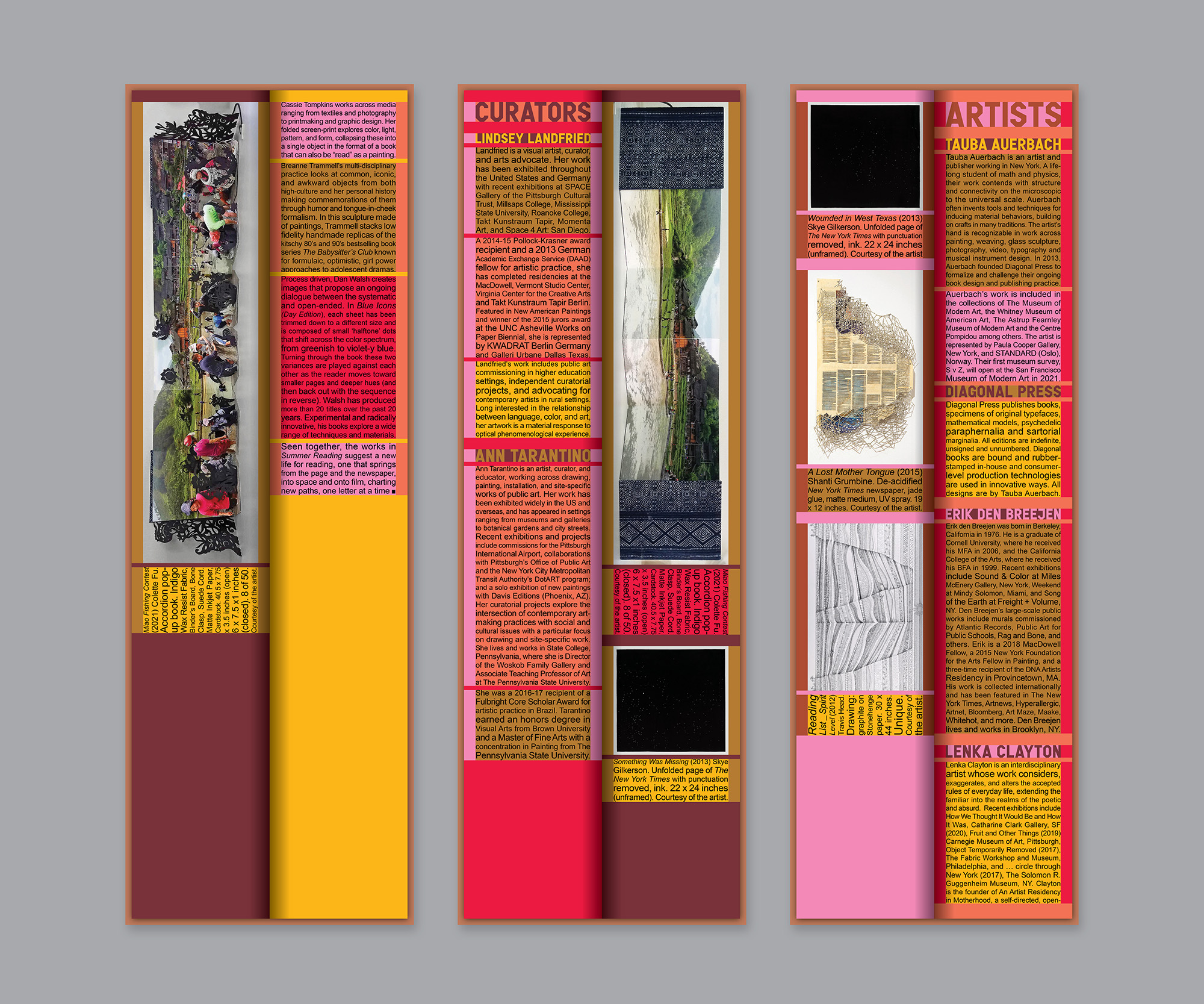 digital mock up of 3 summer reading catalogues in a row