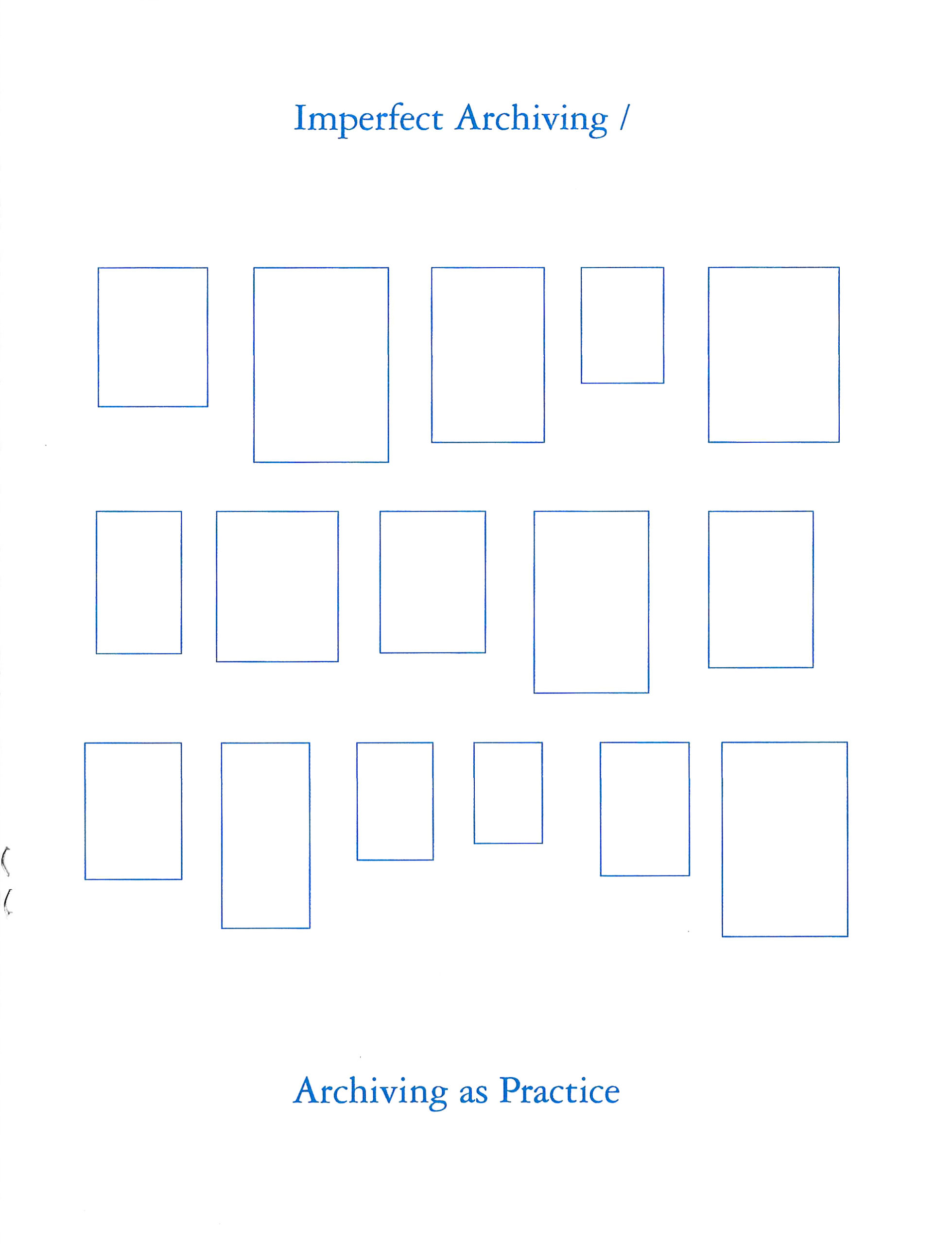 white book cover with blue text and 16 rectangles
